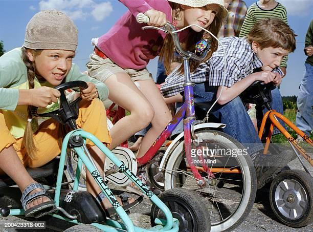 Children (8-11) starting race, outdoors