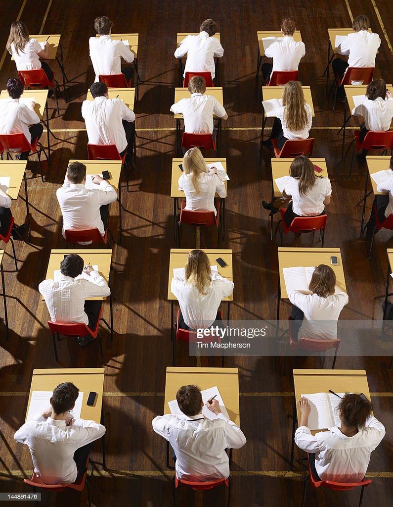 Children stting an exam