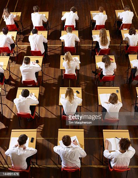 Children stting an exam