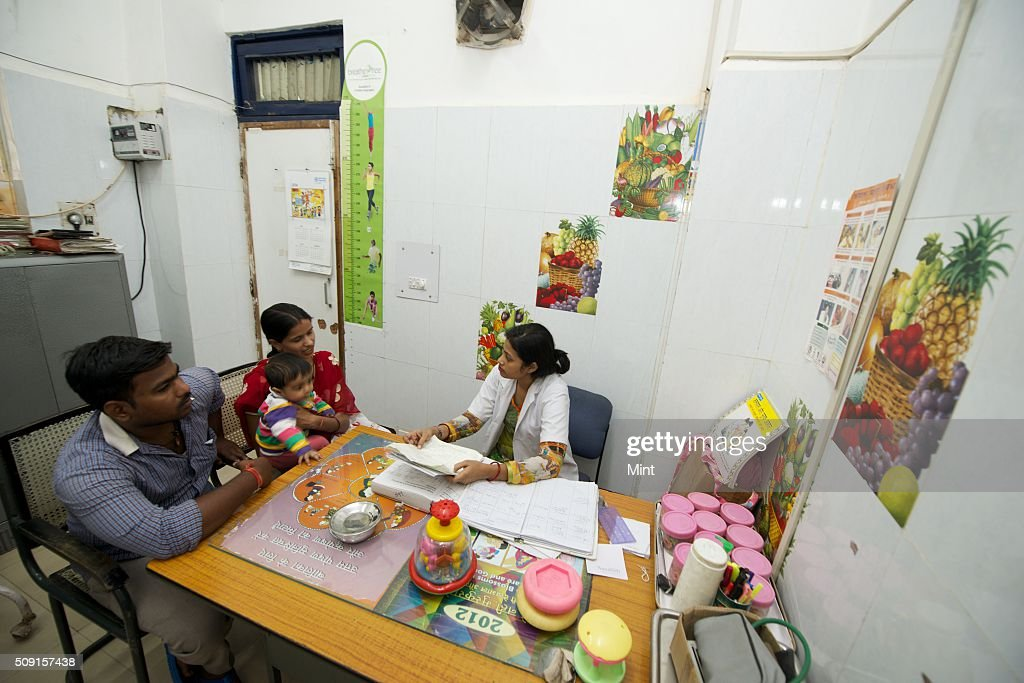 Children suffering from malnutrition getting treated at Guru Gobind Singh Hospital on November 5, 2014 in New Delhi, India.