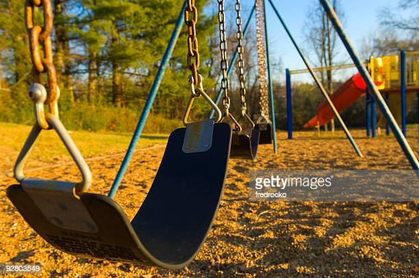 Children Swing-set at Playground At School or Park