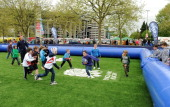Children take park in activities during the London Ladies Sevens at Cardinal Vaughan on May 11 2013 in London England