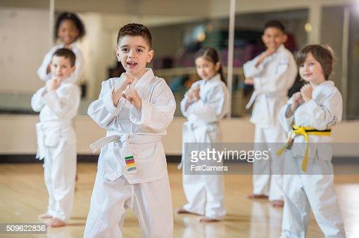 Children Taking a Jujitsu Class