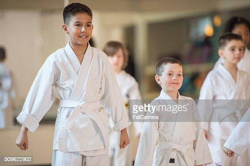 Children Taking Karate
