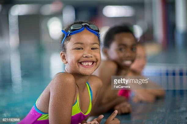 Children Taking Swimming Lessons