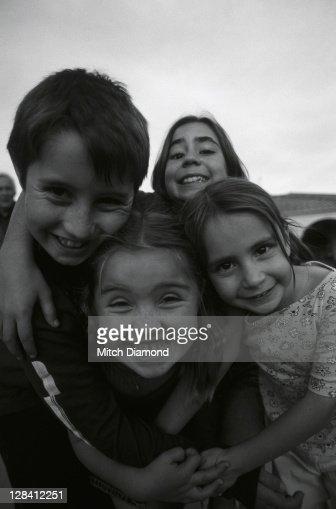 4 children together : Stock Photo