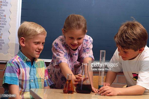 Children w/ chemistry experiment