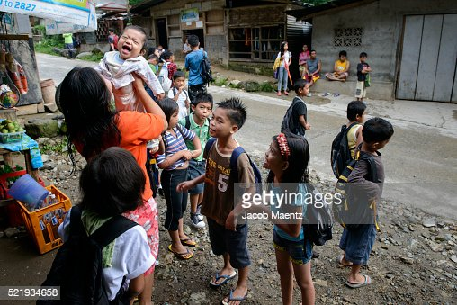 Children waiting to go to school