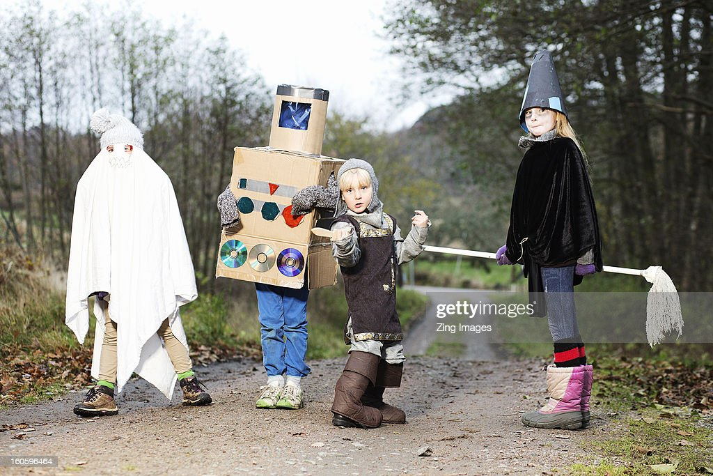 Children wearing fancy dress : Stock Photo