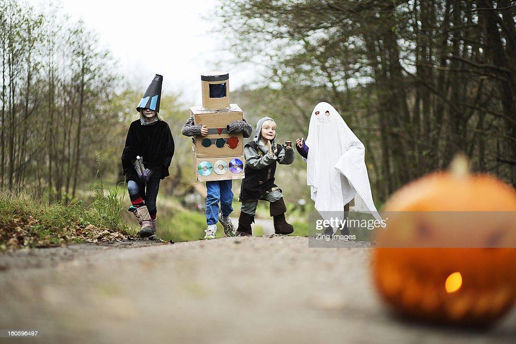 Children wearing fancy dress : Stock Photo