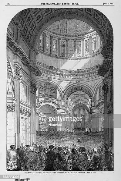 Children who have beneffited from charity gather in St Paul's Cathedral in London England