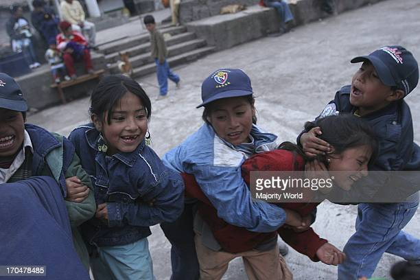 Children who used to live in the towns affected by a catastrophic volcanic eruption The aftermath of a devastating volcanic eruption The Tungurahua...