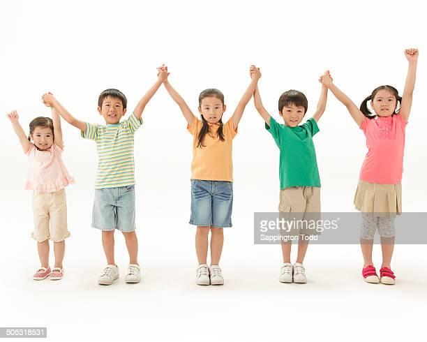 Children With Hand Raised