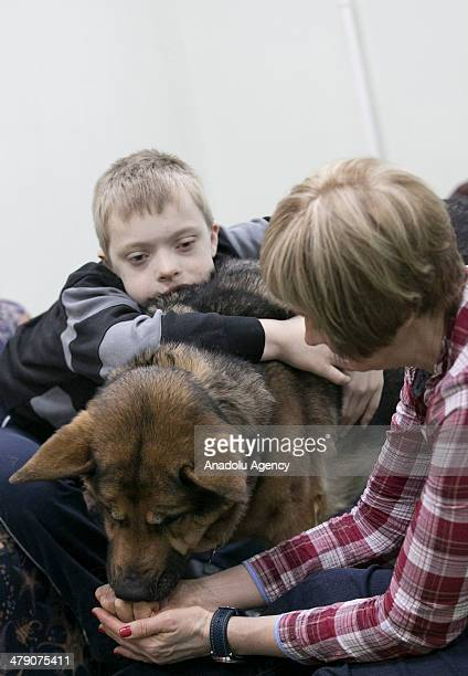 Children with mental disabilities meet up with trained dogs which contributes their process of treatment and help overcome the disabilities as much...