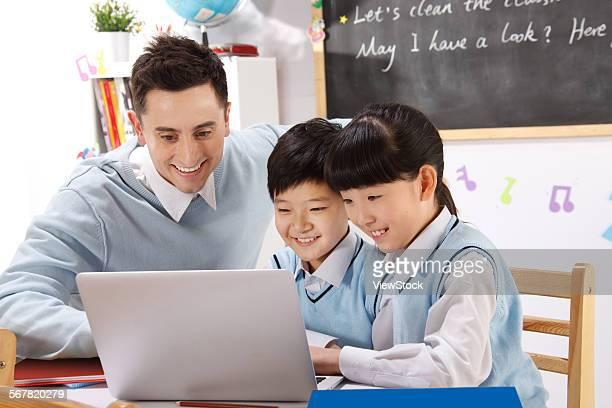 Children with teacher