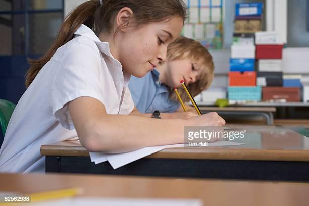 Children working in school