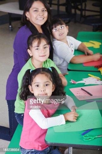 Children Working on Crafts at School