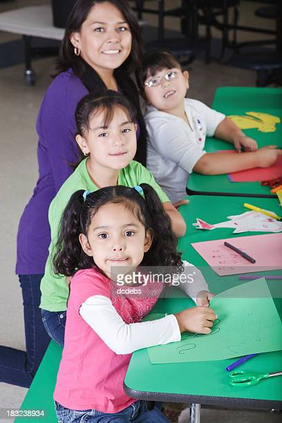 Children Working on Crafts at School