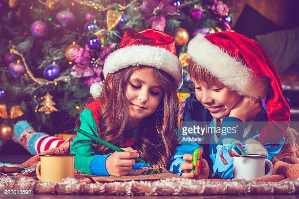 Children writing a letter to Santa