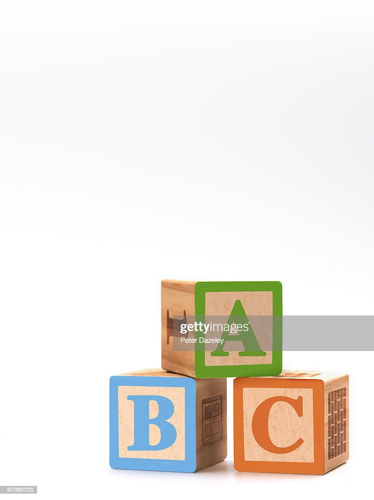 children's ABC building blocks : Stock Photo
