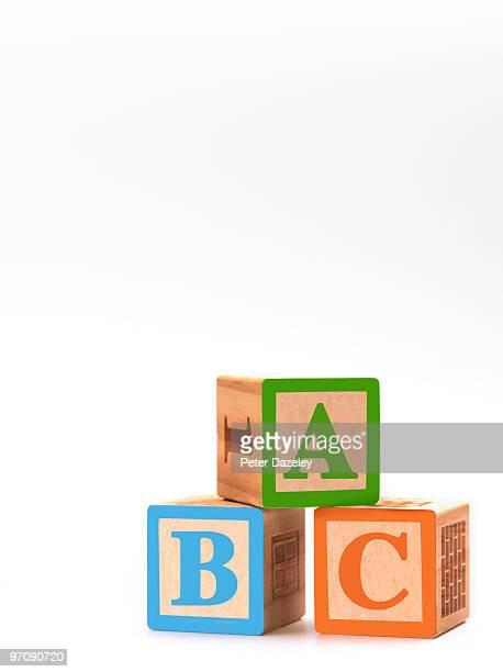 children's ABC building blocks