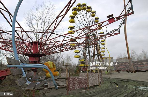 A children''s amusement park December 6 2000 in Pripyat Ukraine a city of 50000 that was completely evacuated 36 hours after the meltdown of the...