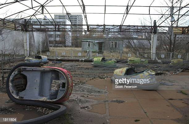 A children''s amusement park lies desolate December 6 2000 in Pripyat Ukraine a city of 50000 that was completely evacuated 36 hours after the...