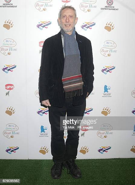 Children's author Michael Rosen attends a screening of We're Going on a Bear Hunt at the Empire Leicester Square in central London