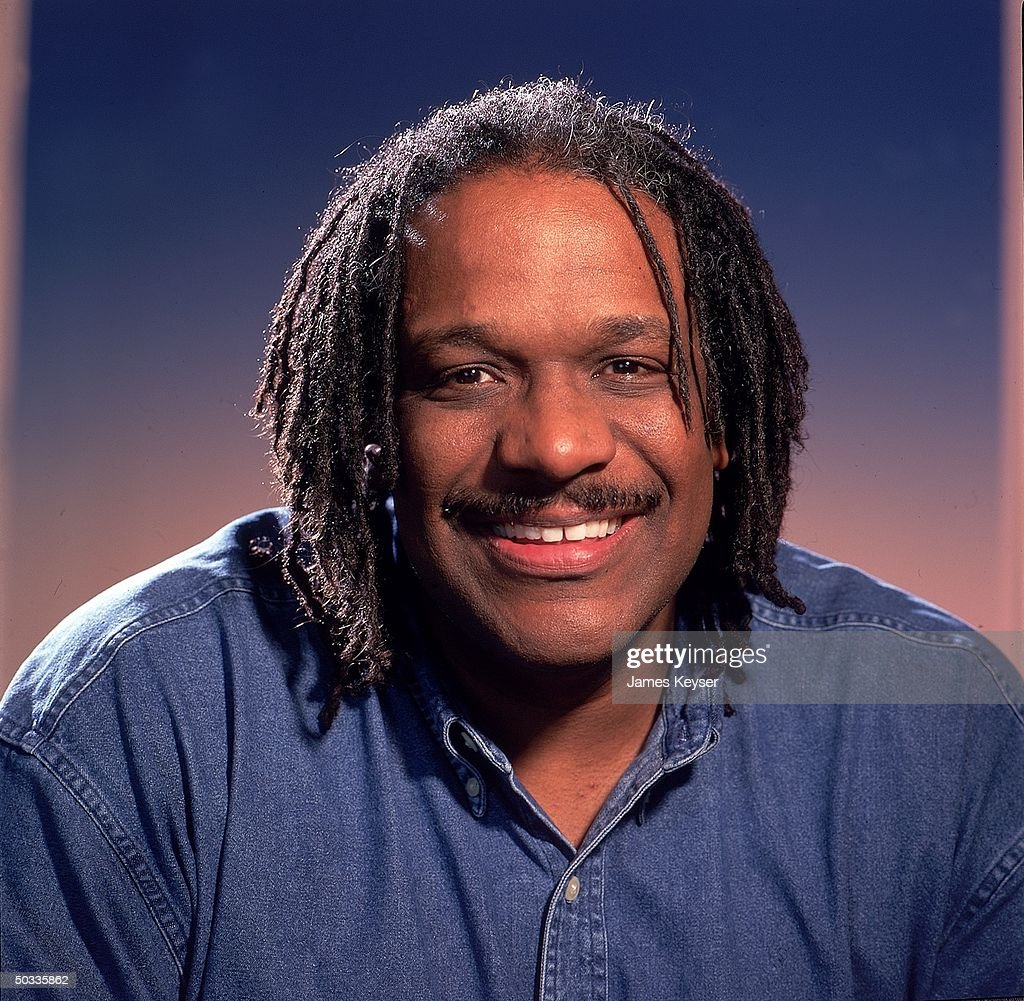 Children's book author Christopher Paul Curtis in smiling portrait. - childrens-book-author-christopher-paul-curtis-in-smiling-portrait-picture-id50335862