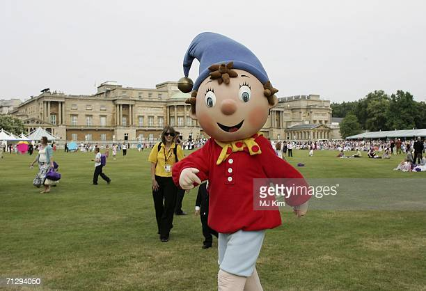 Children's cartoon character Noddy is seen at the Children's Garden Party as part of the Queens 80th Birthday celebrations at the Buckingham Palace...