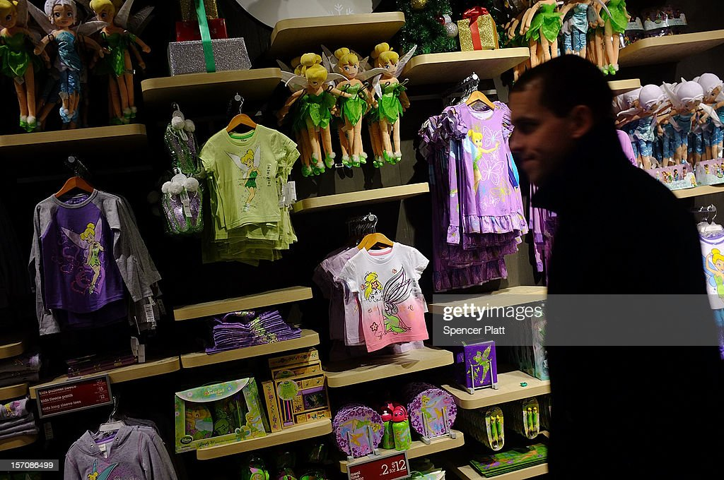 Children's clothes are displayed at the Disney Store on November 28, 2012 in New York City. Following a fire at Tazreen Fashions Ltd. factory in Bangladesh in which 112 workers were killed on November 24, renewed scrutiny has been brought upon Western clothing companies and their responsibility for working conditions at their overseas operations. Wal-Mart's Faded Glory brand, Sean Combs' ENYCE label and apparel from the Disney Store are just some of the Western brands that were sewn at the Bangladeshi factory. As American consumers continue to demand bargain prices for clothes, retailers are under increasing pressure to balance safe working conditions with cheap labor costs.