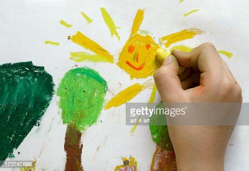 子供の絵の春