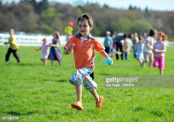 Children's egg and spoon race
