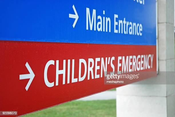 Children's Emergency Room Sign