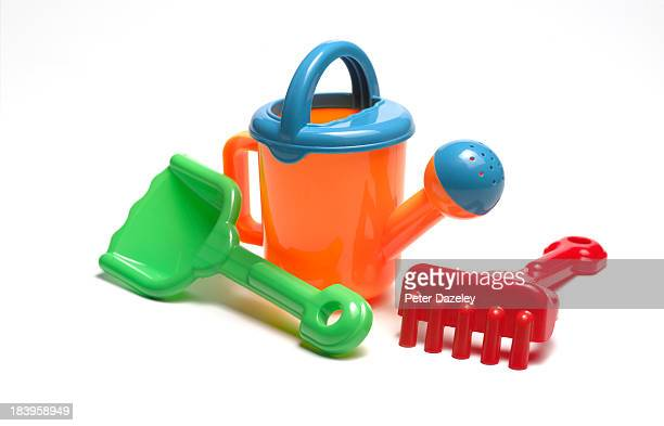 Children's gardening and watering tools