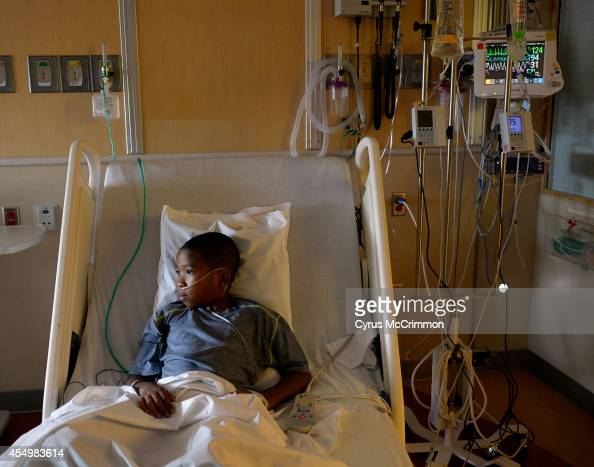 Children's Hospital Colorado is seeing high numbers of respiratory illnesses9yearold patient Jayden Broadway of Denver is being treated at the...