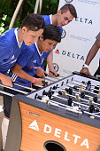 Children's Hospital Los Angeles patients Christopher Escobar Alex Idolor and Jacob Torres join Delta Air Lines and Chelsea Football Club who teamed...