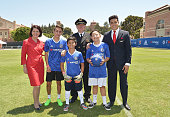 Children's Hospital Los Angeles patients Jacob Torres Alex Idolor and Christopher Escobar join Delta Air Lines and Chelsea Football Club who teamed...