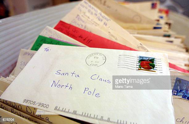 Children's letters to Santa Claus are seen in Manhattan's General Post Office December 3 2001 in New York City The New York Post Office's 'Operation...