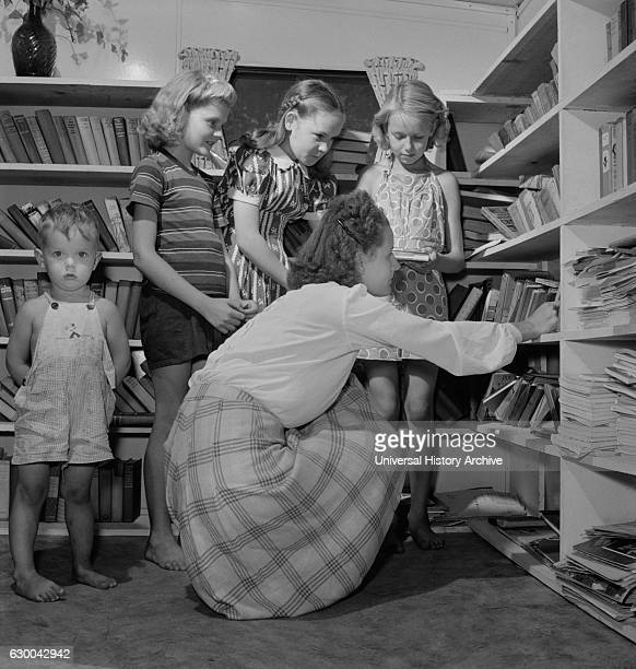 Children's Library at Glenn L Martin Trailer Village a Farm Security Administration Housing Project Middle River Maryland USA John Collier for Office...