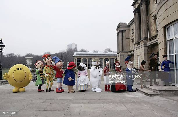 Children's literature characters promote the summer 'Children's Party at the Palace' garden party hosted by the Queen to celebrate her 80th birthday...