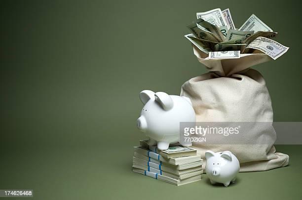 Fondo de dinero para niños