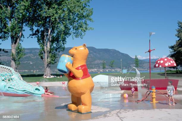 Childrens Park With Large Winnie the Pooh