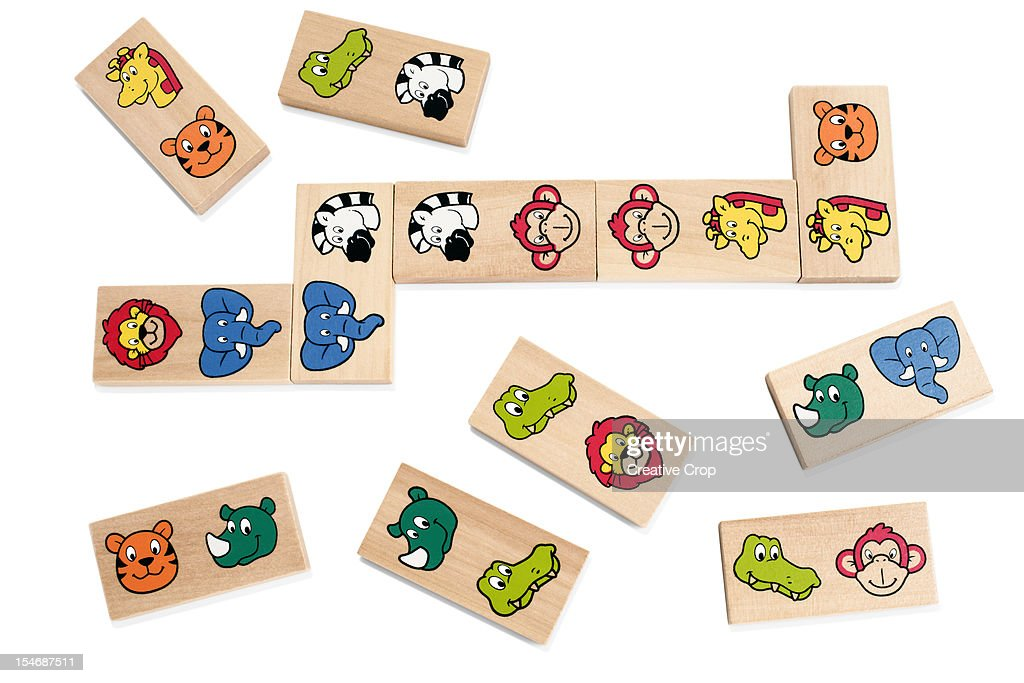 Children's play dominos : Stock Photo