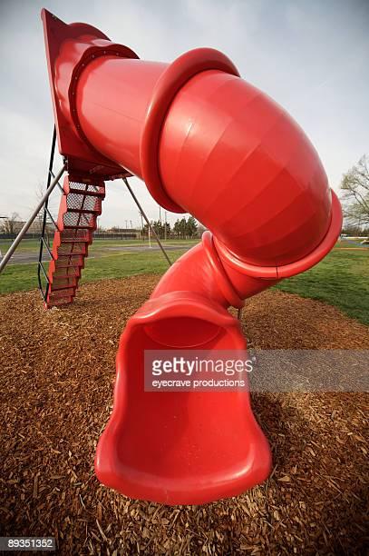 children's playground scenes - red slide