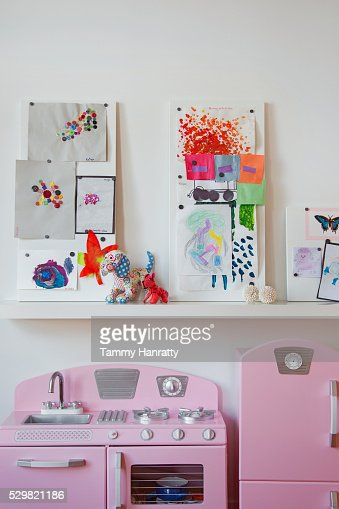 Children's room with toy kitchen : Stock-Foto