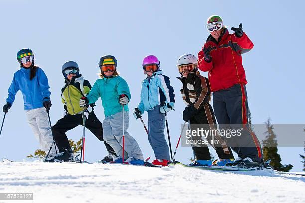 Childrens ski lessons