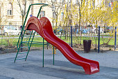 Children's slide at the playground