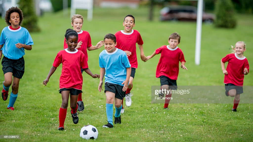 Childrens Soccer : Stock Photo