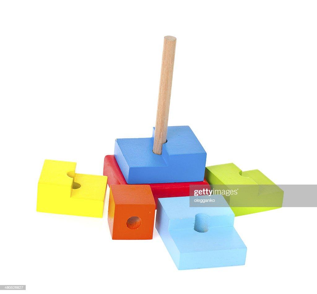 Children's toys isolated on white background : Stock Photo